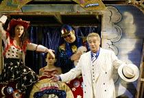 'PAGLIACCI' (Leoncavallo)   (conductor: Antonio Pappano   producer: Franco Zeffirelli)~Placido Domingo (Canio) with (left) Nuccia Focile (Nedda/Columbine)~The Royal Opera / Covent Garden, London WC2...