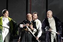 'DAS RHEINGOLD' (Wagner - conductor: Antonio Pappano   director: Keith Warner   ,set design: Stefanos Lazaridis   costume design: Marie-Jeanne Lecca   lighting: Wolfgang G�bbel),l-r: Will Hartmann (Fr...