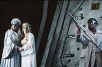 'DAS RHEINGOLD' (Wagner - conductor: Bernard Haitink   director: Gotz Friedrich),l-r: Helga Dernesch (Fricka), Deborah Riedel (Freia), James Morris (Wotan),The Royal Opera / Covent Garden   London WC2...