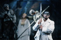 'DAS RHEINGOLD' (Wagner - conductor: Bernard Haitink   director: Gotz Friedrich),right: James Morris (Wotan),The Royal Opera / Covent Garden   London WC2                       16/09/1991,