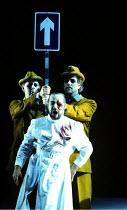 DAS RHEINGOLD by Wagner~rear: Gwynne Howell (Fasolt), Carsten Stabell (Fafner)~front: John Tomlinson (Wotan)~The Royal Opera, London  13/10/1994