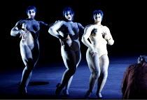 DAS RHEINGOLD by Wagner  conductor: Bernard Haitink  design: Nigel Lowery  lighting: Pat Collins  director: Richard Jones ~the Rhinemaidens - l-r: Leah-Marian Jones (Flosshilde), Gillian Webster (Well...