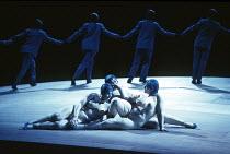 DAS RHEINGOLD by Wagner  conductor: Bernard Haitink  design: Nigel Lowery  lighting: Pat Collins  director: Richard Jones ~the Rhinemaidens - l-r: Leah-Marian Jones (Flosshilde), Judith Howarth (Wogli...