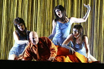 'THE RHINEGOLD' (Wagner - conductor: Paul Daniel   director: Phyllida Lloyd   design: Richard Hudson)~l-r: Linda Richardson (Woglinde), Andrew Shore (Alberich), Stephanie Marshall (Wellgunde), Ethna R...