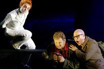 SIEGFRIED  by Richard Wagner  conductor: Richard Armstrong  set design: Hildegard Bechtler  costumes: Ana Jebens  lighting: Peter Mumford  director: Tim Albery ~l-r: Gillian Keith (The Woodbird), Grah...