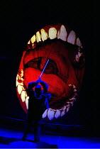 SIEGFRIED  by Richard Wagner  conductor: Richard Armstrong  set design: Hildegard Bechtler  costumes: Ana Jebens  lighting: Peter Mumford  director: Tim Albery ~Siegfried kills the dragon (Fafner): Gr...