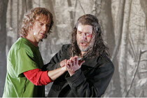 'SIEGFRIED' (Wagner - conductor: Paul Daniel   director: Phyllida Lloyd   designer: Richard Hudson),l-r: Richard Berkeley-Steele (Siegfried), Robert Hayward (Wanderer/Wotan),English National Opera / L...