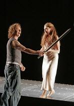 'SIEGFRIED' (Wagner - conductor: Paul Daniel   director: Phyllida Lloyd   designer: Richard Hudson),Richard Berkeley-Steele (Siegfried), Kathleen Broderick (Brunnhilde),English National Opera / London...