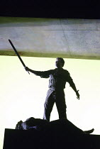 'THE VALKYRIE' (Wagner - conductor: Paul Daniel   director: Phyllida Lloyd   design: Richard Hudson)~Act I - closing moments: Par Lindskog (Siegmund), Orla Boylan (Sieglinde) ~English National Opera /...