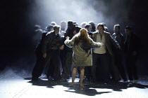 'THE VALKYRIE' (Wagner - conductor: Paul Daniel   director: Phyllida Lloyd   design: Richard Hudson)~Act III - final scene - BrUnnhilde abandoned: Kathleen Broderick (BrUnnhilde)~English National Oper...