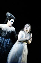 DIE ZAUBERFLOTE (THE MAGIC FLUTE) by Mozart~l-r: Diana Damrau (Queen of Night), Dorothea Roschmann (Pamina)~The Royal Opera, Covent Garden, London WC2  25/01/2003~(c) Donald Cooper/Photostage   photos...