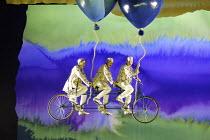 DIE ZAUBERFLOTE (THE MAGIC FLUTE) by Mozart - conductor: Vladimir Jurowski   director: Adrian Noble~l-r: Milo Harries (Third Boy), Leo Baker (First Boy), Jake Alden-Falconer (Second Boy)~Glyndebourne...