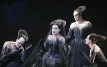 DIE ZAUBERFLOTE (The Magic Flute) by Mozart - conductor: Charles Mackerras   original director: David McVicar <br> l-r: Yvonne Howard (Third Lady), Anna-Kristina Kaappola (Queen of the Night), Gillia...