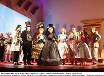 THE GONDOLIERS   music: Arthur Sullivan   libretto: W S Gilbert   conductor: Richard Balcombe   director: Martin Duncan,Inez unravels the mystery - l-r: Geoffrey Dolton (The Duke of Plaza-Toro), Donal...