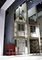 MERRY WIVES THE MUSICAL  based on the play by Shakespeare   ,adapted and directed by Gregory Doran   music: Paul Englishby   lyrics: Ranjit Bolt,set (section)   design: Stephen Brimson Lewis,Royal Sha...
