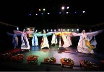 ROMEO AND JULIET   by Shakespeare   director: Oh Tae-Suk,front right: Kim Mun Jung (Juliet),Mokhwa Repertory Company (Korea),BITE:06 / Pit Theatre, Barbican Centre, London EC2                23/11/200...