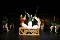 ROMEO AND JULIET   by Shakespeare   director: Oh Tae-Suk,l-r: Lee Tae Hyung (Tybalt), Kim Byung Cheol (Romeo), Lee Do Hyun (Mercutio),Mokhwa Repertory Company (Korea),BITE:06 / Pit Theatre, Barbican C...