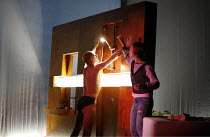 BLASTED (ZERBOMBT)   by Sarah Kane   director: Thomas Ostermeier,Ulrich Muhe (Ian), Katharina Schuttler (Cate),Schaubuhne am Lehniner Platz, Berlin / BITE:06 / Barbican Theatre, London EC2   07/11/200...