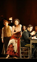 CARMEN  by Bizet  conductor: Antonio Pappano  director: Francesca Zambello ~Anna Caterina Antonacci (Carmen), (seated, right) Jonas Kaufmann (Don Jose)~The Royal Opera, Covent Garden, London WC2  08/1...