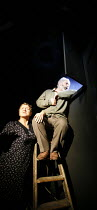 THE CHAIRS   by Eugene Ionesco   translated by Martin Crimp   ,director: Thea Sharrock,Susan Brown (Old Woman), Nicholas Woodeson (Old Man),Gate Theatre, London W11           23/11/2006 ,~(c) Donald C...