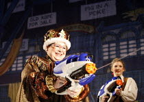 DICK WHITTINGTON AND HIS CAT   written by Mark Ravenhill   director: Edward Hall~Debbie Chazen (Fairy BowBells) (with Summer Strallen/Dick Whittington)~BITE:06 / Barbican Theatre, London EC2...