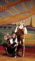 DICK WHITTINGTON AND HIS CAT   written by Mark Ravenhill   director: Edward Hall~Derek Elroy (Tommy the Cat), Summer Strallen (Dick Whittington)~BITE:06 / Barbican Theatre, London EC2...