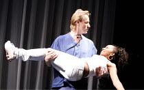 DON JUAN IN SOHO   by Patrick Marber      after Moliere   director: Michael Grandage,Rhys Ifans (Don Juan), Seroca Davis (Lottie),Donmar Warehouse / London WC2                   06/12/2006,
