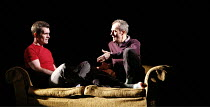 DRUNK ENOUGH TO SAY I LOVE YOU?   by Caryl Churchill   director: James Macdonald,l-r: Ty Burrell (Sam), Stephen Dillane (Jack),Jerwood Theatre Downstairs / Royal Court Theatre, London SW1     22/11/20...