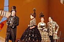 THE GONDOLIERS   music: Arthur Sullivan   libretto: W S Gilbert   conductor: Richard Balcombe   director: Martin Duncan, l-r: Donald Maxwell (Don Alhambra del Bolero), Rebecca Bottone (Casilda), Ann M...