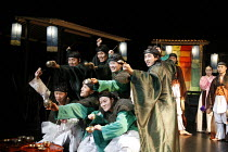ROMEO AND JULIET   by Shakespeare   director: Oh Tae-Suk,front centre: Kim Byung Cheol (Romeo) with Montague gang,Mokhwa Repertory Company (Korea),BITE:06 / Pit Theatre, Barbican Centre, London EC2...