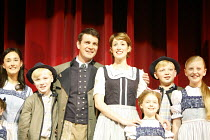 Alexander Hanson (centre, with Connie Fisher as Maria Rainer and the von Trapp children) takes over from Simon Shepherd as Captain Georg von Trapp,,THE SOUND OF MUSIC,London Palladium   now in preview...