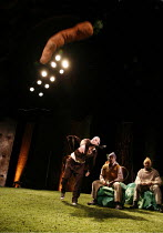 WATERSHIP DOWN   based on the book by Richard Adams   ,adapted by Rona Munro   directed and designed by Melly Still,l-r: Matthew Burgess (Hazel), Jim Findley (Blackberry), Daniel Williams (Big Wig),Ly...