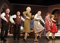 'ACORN ANTIQUES-THE MUSICAL!' (book/music/lyrics: Victoria Wood   director: Trevor Nunn),centre, l-r: Celia Imrie (Miss Babs),  Julie Walters (Mrs Overall), Sally Ann Triplett (Miss Berta),Theatre Roy...