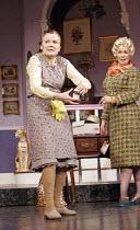 'ACORN ANTIQUES-THE MUSICAL!' (book/music/lyrics: Victoria Wood   director: Trevor Nunn),l-r: Julie Walters (Mrs Overall), Celia Imrie (Miss Babs),Theatre Royal Haymarket, London SW1...