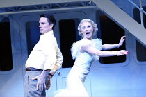 John Barrowman (Billy Crocker), Mary Stockley (Hope Harcourt) in ANYTHING GOES at the Olivier Theatre, National Theatre (NT), London SE1 18/12/2002~music & lyrics: Cole Porter  original book: P.G.Wode...