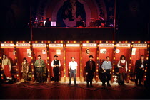 'ASSASSINS' (Sondheim/Weidman, directed by Sam Mendes)~the company~Donmar Warehouse, London WC2                   1992