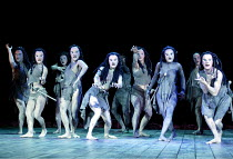 BACCHAI  by Euripides translated by Colin Teevan  music: Harrison Birtwistle  design: Alison Chitty  lighting: Peter Mumford  movement: Marie-Gabrielle Rotie  director: Peter Hall  ~chorus~Olivier The...