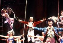 BARNUM  music: Cy Coleman  lyrics: Michael Stewart  book: Mark Bramble  set design: David Mitchell  costumes: Theoni V Aldredge  lighting: Nick Richings  directed and staged by Buddy Schwab ~centre: P...