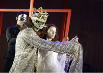 'BEAUTY AND THE BEAST' (adapted & directed by Laurence Boswell)~Adam Levy (Beast), Aoife McMahon (Beauty)~Royal Shakespeare Theatre / Royal Shakespeare Company   Stratford-upon-Avon, England   10/12/2...