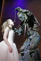 'BEAUTY AND THE BEAST' (written & directed by Laurence Boswell),Karen Paullada (Beauty), Gary Sefton (Beast),Royal Shakespeare Company /  Royal Shakespeare Theatre, Stratford-upon-Avon, England...