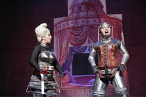 'BEAUTY AND THE BEAST' (written & directed by Laurence Boswell),Sirine Saba (Beast's Maid), Miltos Yerolemou (Beast's Man),Royal Shakespeare Company /  Royal Shakespeare Theatre, Stratford-upon-Avon,...
