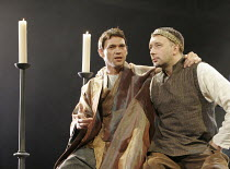 'BECKET' (Anouilh - adapted by Frederic & Stephen Raphael - director: John Caird),l-r: Dougray Scott (Thomas à Becket), Jasper Britton (Henry II),Theatre Royal Haymarket, London SW1...