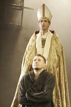 'BECKET' (Anouilh - adapted by Frederic & Stephen Raphael - director: John Caird),(top) Dougray Scott (Thomas à Becket), Jasper Britton (Henry II),Theatre Royal Haymarket, London SW1...