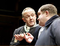 'THE BEGGAR'S OPERA' (Vaclav Havel after Gay)~l-r: Bruce Alexander (Lockit), David Timson (Peachum)~Orange Tree Theatre   Richmond / England                                          17/01/2003