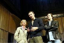 'BENEFACTORS' (Frayn)~l-r: Emma Chambers (Sheila), Aden Gillett (David), Neil Pearson (Colin)~Albery Theatre, London WC2                  25/06/2002