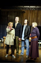 'BENEFACTORS' (Frayn)~l-r: Emma Chambers (Sheila), Aden Gillett (David), Neil Pearson (Colin), Sylvestra Le Touzel (Jane)~Albery Theatre, London WC2                  25/06/2002