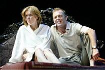 'BETRAYAL' (Harold Pinter)   (director: Peter Hall)~Janie Dee (Emma), Hugo Speer (Robert)~The Peter Hall Company / Theatre Royal, Bath   England                  09/07/2003