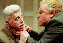 THE BIRTHDAY PARTY  by Harold Pinter ~l-r: Nigel Terry (McCann), Timothy West (Goldberg) ~Piccadilly Theatre, London W1  26/04/1999~(c) Donald Cooper/Photostage   photos@photostage.co.uk   ref/CN-C20