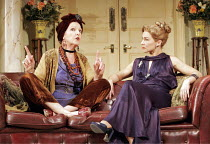 'BLITHE SPIRIT' (Noel Coward - director: Thea Sharrock),l-r: Penelope Keith (Madame Arcati), Joanna Riding (Ruth Condomine),Savoy Theatre, London WC2                  22/11/2004,