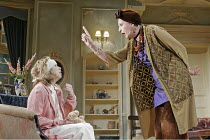 'BLITHE SPIRIT' (Noel Coward - director: Thea Sharrock),l-r: Michelle Terry (Edith), Penelope Keith (Madame Arcati),Savoy Theatre, London WC2                  22/11/2004,